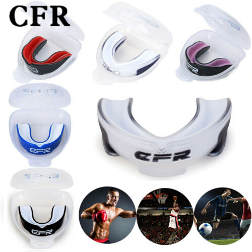 Senior Gum Shield Boxing Teeth Protection Mouth Guard MMA Rugby Adult Support PF