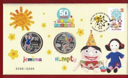 BARGAIN! 10 x 2016 Australia PNC 50 Years of Play School Jemima and Humpty 50c