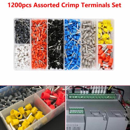 1200pcs Assorted Crimp Terminals Kit Copper Tinplate For Auto audio System PVC