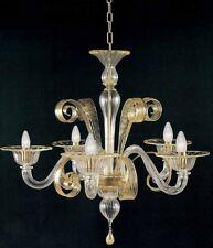 Lampadario di murano -1008/3 3 luci e 14 Cristallo Oro - Montatura Oro 24k
