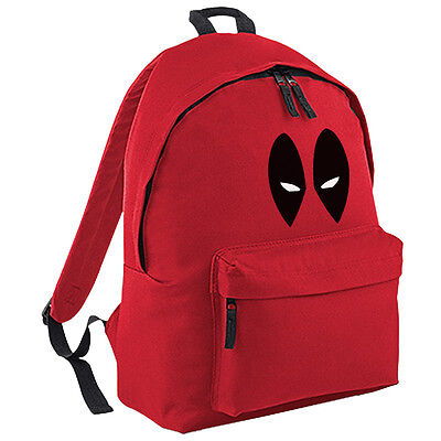 Cartoon Eyes Red Backpack Inspired Comics Face Kids School College Bag 18 Ltrs