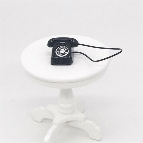 Miniature Metal Office Desk Phone Dial Telephone Dollhouse Furniture 1//12 Decor