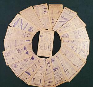 45 Nabisco Straight Arrow Injun-uity cards Book 2 (1950) & 1 Book 4 (1952) card
