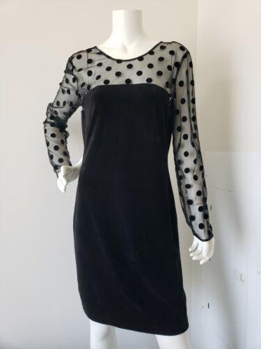 Juicy Couture Dress XL Velvet Sheer Polka Dot