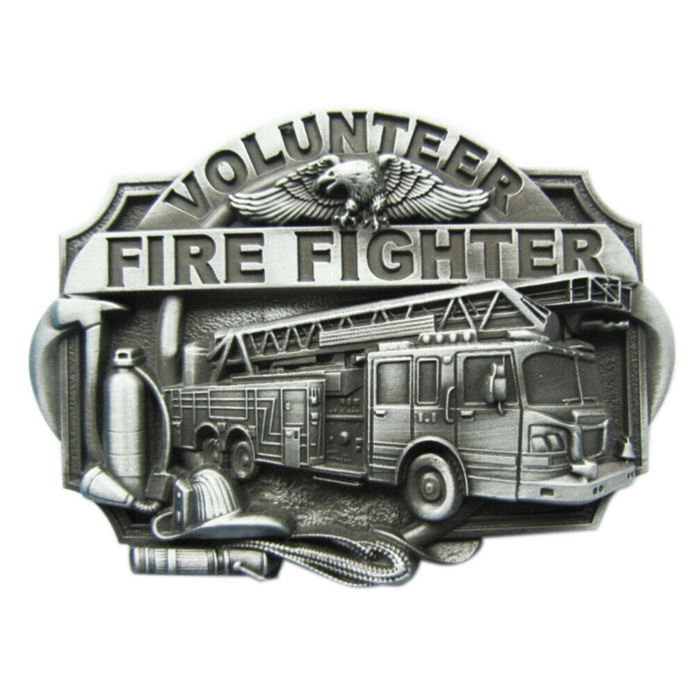 Volunteer Fire Fighter IV Gürtelschnalle Freiwillige Feuerwehr Feuerwehrmann