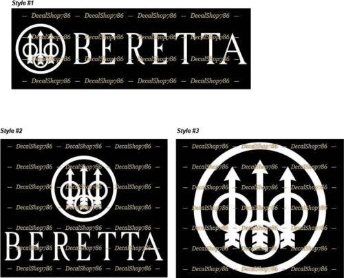 Vinyl Die-Cut Peel N/' Stick Decal Hunting//Outdoor Sports Beretta Firearms