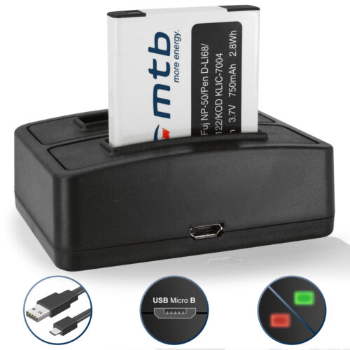 Cargador doble NP-50 para Fuji Fujifilm Finepix XP160,XP170,XP200 Bateria