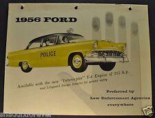 1956 Ford Police Car Brochure Customline Mainline Wagon Nice Original 56