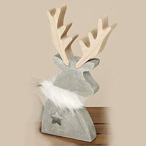 Weihnachtsdeko Holz Modern.Details Zu Hirsch Elch Beton Holz Weihnachten Modern Reh Rendtier Weihnachtsdeko
