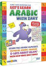 LET'S LEARN ARABIC WITH ZAKY DVD ISLAMIC CHILDREN CARTOON WATCH & LEARN FREE P&P