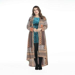 Women Boho Beach Dress Plus Size Cardigan Arab Muslim Kaftan Moroccan Maxi Abaya