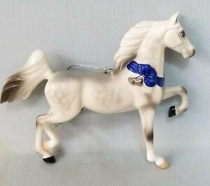 Breyer-700505-Dapple-Grey-Porcelain-Saddlebred-Ornament-Model-Horse-with-Box