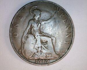 1919-Great-Britain-Pennie-NICE-COIN