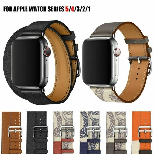 Replacement Band For Apple Watch Hix Extra Long Genuine Leather Band Double Tour For Sale Online Ebay