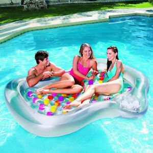 BESTWAY DOUBLE DESIGNER INFLATABLE SWIMMING POOL LOUNGER LILO WATER AIRBED BOAT