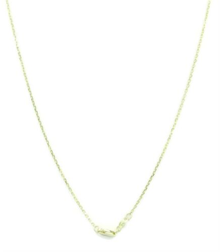 """14k Yelllow Gold Cable Chain Turquoise 17/"""" Necklace"""