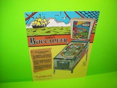 Evel Knievel Pinball FLYER Original 1977 NOS Flipper Game Machine Promo Artwork
