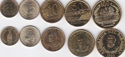 set 7 coins 1 10 20 50 100 500 1000 Sucres 1988-1997 aUNC Lemberg-Zp Ecuador