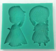 Frozen Elsa Anna  Mould Silicone Disney Cake Toppers Sugarcraft Chocolate