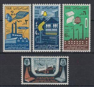1964 Yémen A.r. */mlh Mi.344/47 Usine Factory Araignées Spinning Tissage [st4389] Marchandises De Proximité