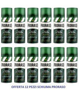 12pz-PRORASO-Schiuma-da-Barba-TUTTE-LE-BARBE-Rinfrescante-e-Tonificante-400ml