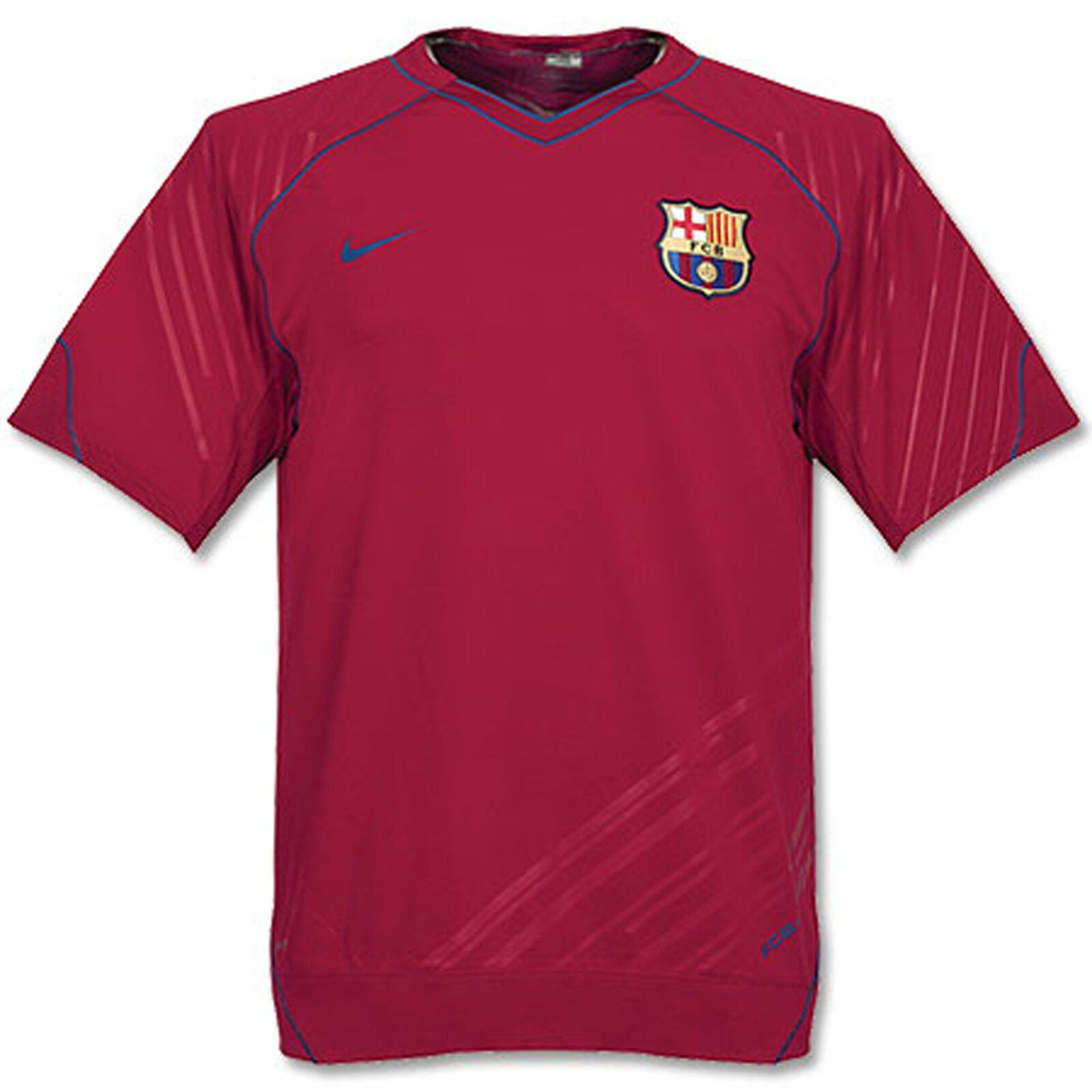 Vintage NIKE  BARCELONA FOOTBALL Training Pre Match Shirt Dark Red M