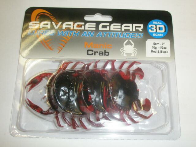 Savage Gear 3D Manic Crab 5cm 10g 4pk ALL VARIETIES Sea fishing tackle