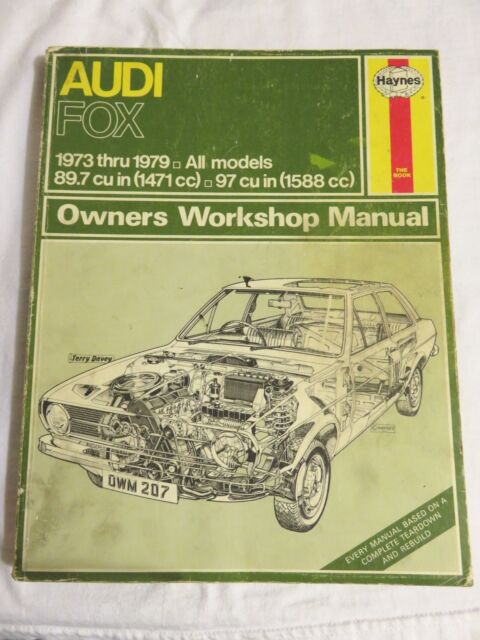 Haynes Audi Fox 1973-79 All Models