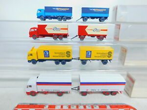 BY353-0-5-4x-Wiking-H0-1-87-Lastzug-Mercedes-MB-455-456-457-NEUW-OVP