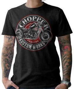 T-Shirt-Biker-Oldschool-Moto-Chopper-Custom-CACCIAVITI-Wrench-MC-UOMO-s-5xl