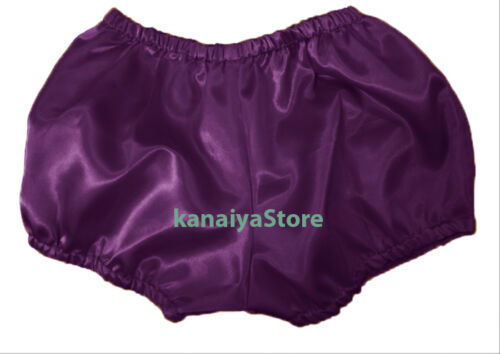 Purple Women Satin Pants Pantaloons Sissy Maid Adult Baby Fits With Underwear