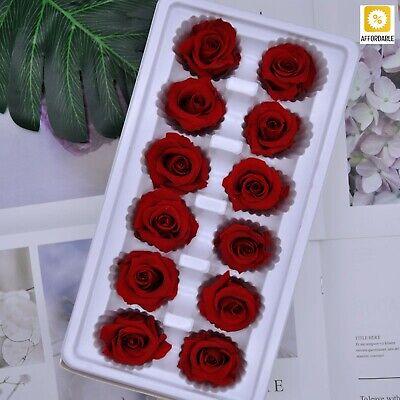 6 Heads Preserve Rose Flowers 5cm Diameter Mothers Day Gift Eternal Life Flowers