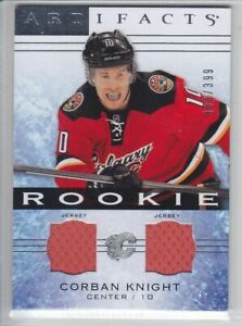 2014-15-UD-ARTIFACTS-CORBAN-KNIGHT-RC-JERSEY-DUAL-399-Rookie-136-Upper-Flames