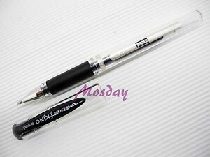 With-Track-10-x-Uni-Ball-Signo-UM-153-Broad-1-0-Gel-Ink-Rollerball-Pen-BLACK