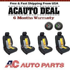 4 Seats Carbon Fiber  Heater Kit Seat Universal Car Cushion - Round Switch