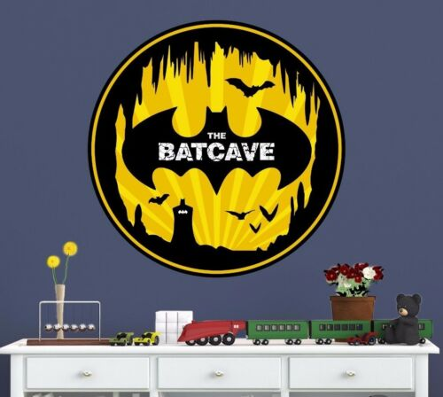 Batman Batcave Man Cave Wall Decal Removable and Replaceable