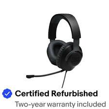 JBL JBLQUANTUM100BAM-Z Quantum 100 Wired Gaming Headset Black - Refurbished