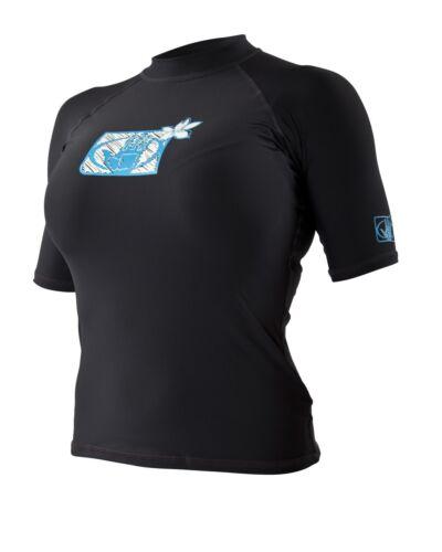 Body Glove Damen Kurzarm Taucheranzug Rash Weste Schwarz Blau oder Weiß