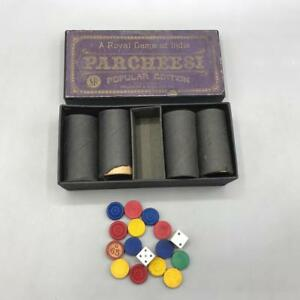 Vintage-Parcheesi-Koeniglich-Spiel-India-Selchow-amp-Righter-Co-New-York
