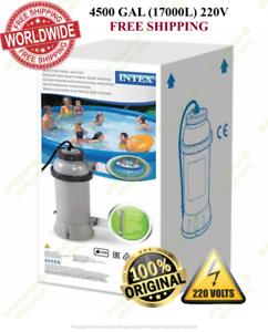 Bomba Piscina-Calentador eléctrico INTEX № 28684   EUplug   4500GAL (17000L)   220 V + Termómetro