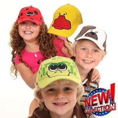 Kids sun hats bucket summer holiday ladybird frog bee beach