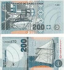 Kap Verden / Cape Verde - 200 Escudos 2005 UNC - Pick 68a