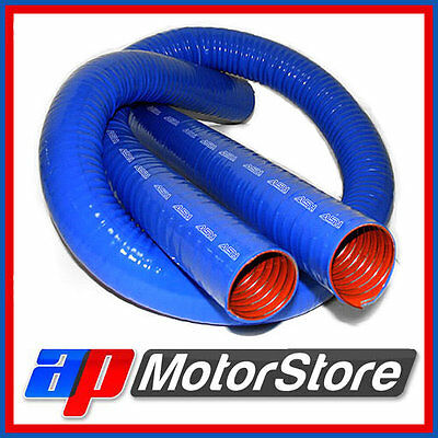 """51Mm 2"""" Blue Silicone Ducting Flexible Induction Air Intake Pipe Hose 0.5M"""