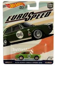 2018 Hot Wheels Car Culture Euro Speed 1 Alfa Romeo Giulia Sprint