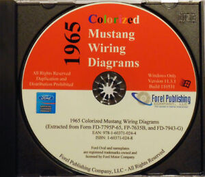 1965 Colorized Mustang Wiring Diagrams (CD-ROM) | eBay