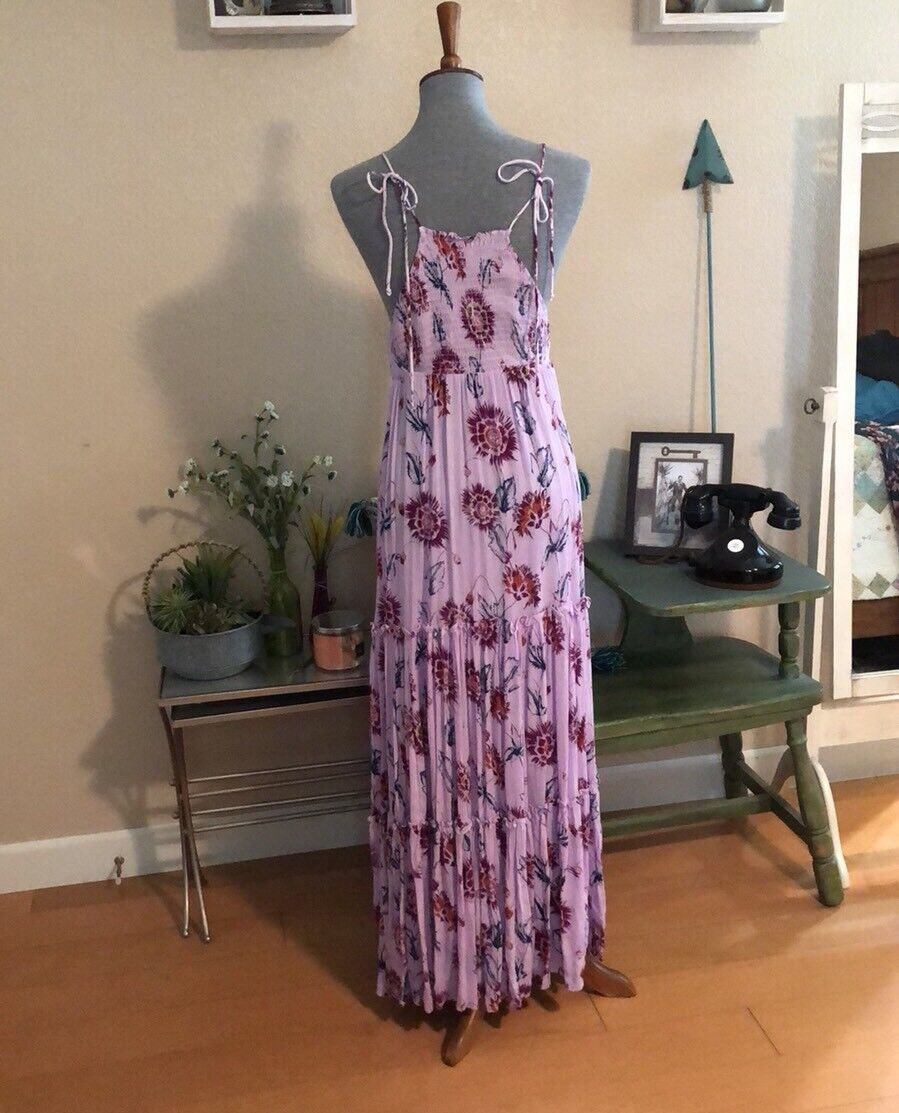 Free People Garden Party Party Party Maxi Dress Purple Size S NWT d390d1