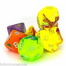 ASSORTITI tossici POLY Dadi Set 7 polinomiale per D20 RPG ROLEPLAY