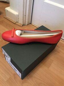 Hobbs Flo Ballerina Orange Red Flat
