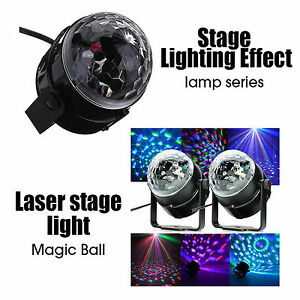 Disco-LED-Laser-Lichteffekt-Discokugel-Magic-RGB-Projektor-Party-Clubs-DJ