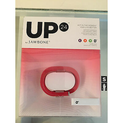 Up 24 by jawbone activity tracker Onyx Red Large Medium New idle alert